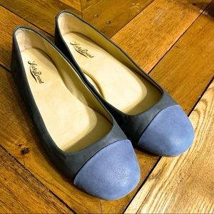 Lucky Brand Navy Blue Ballet Leather Shoes 8